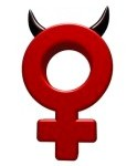 16631448-female-symbol-with-horns-on-white-background--3d-illustration